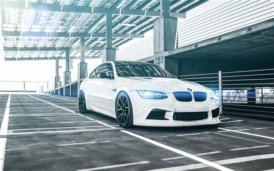 Wallpaper BMW M3 E92 Coupe white car