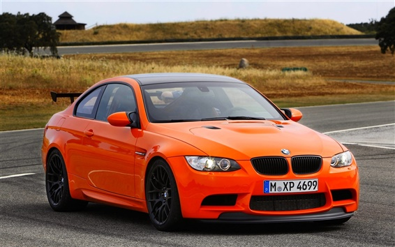 Wallpaper BMW M3 GTS orange car