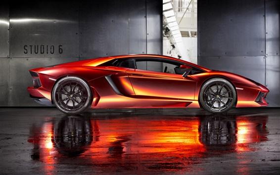 Fondos de pantalla Hermosa supercar, Imprimir Tech Lamborghini Aventador