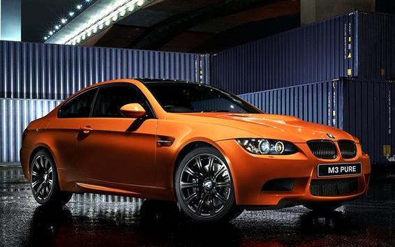Обои Bmw M3 E92 Coupe оранжевый спортивный автомобиль, Pure Edition II