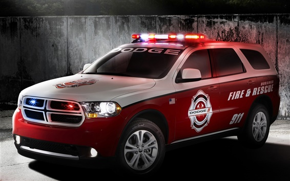 Wallpaper Dodge Durango fire rescue red car for 911