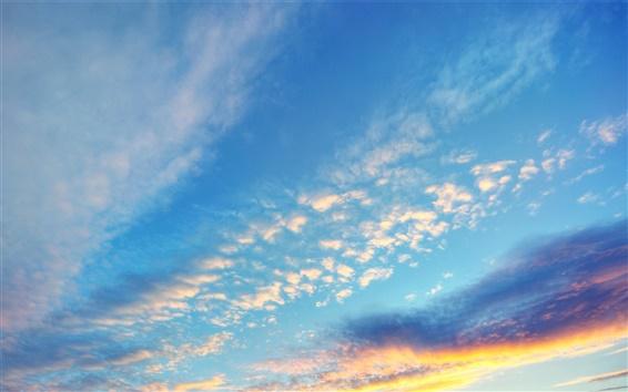 Обои Вечерний закат небо облака
