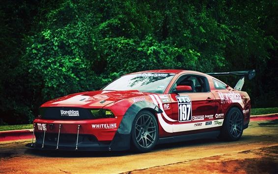 Wallpaper Ford Mustang race car