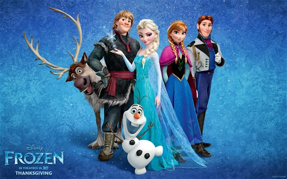 Wallpaper Frozen 2013 movie