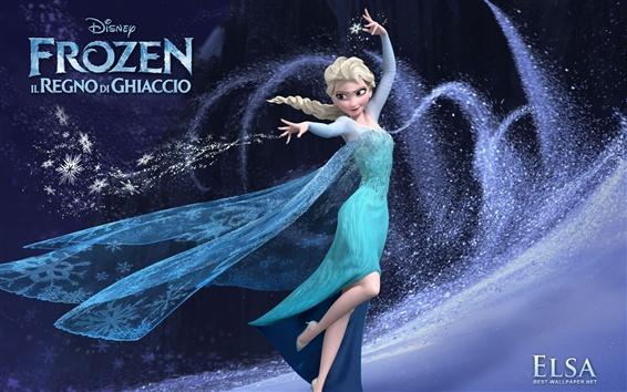 Papéis de Parede Congelado, linda menina Elsa