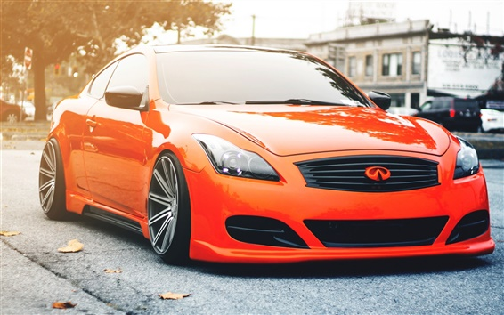 Wallpaper Infiniti G35 orange car