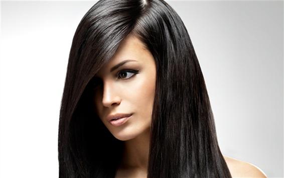 Fond d'écran Les cheveux longs fille noire, beau visage