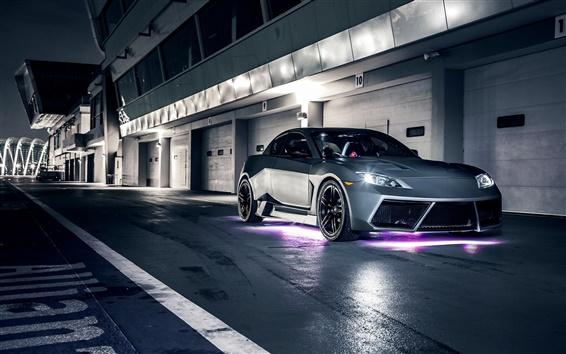 Wallpaper Mazda RX-8 supercar at night