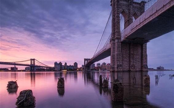 Papéis de Parede Nova York, EUA, Brooklyn Bridge