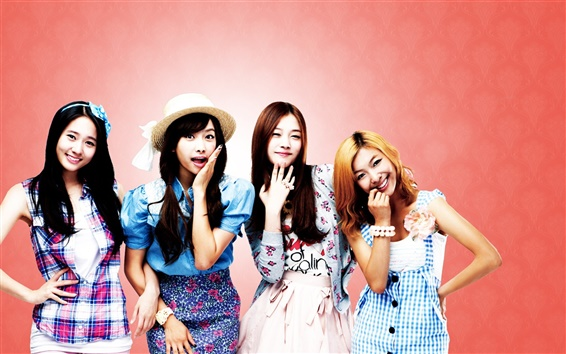 Wallpaper SISTAR four girls smile