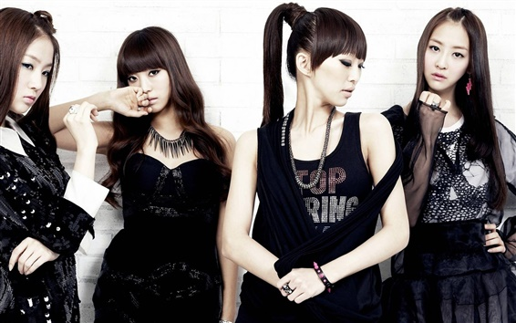 Wallpaper SISTAR girls, black dress