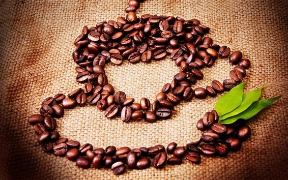 Wallpaper Still life, coffee, grains, leaves