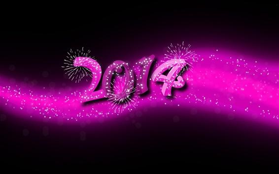 Обои 2014 С Новым Годом, фиолетовый стиль
