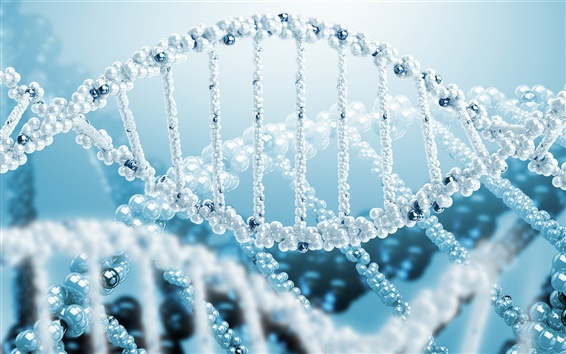 배경 화면 3D 렌더링, 과학, DNA의 나선형