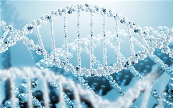 Wallpaper 3D rendering, science, DNA spiral