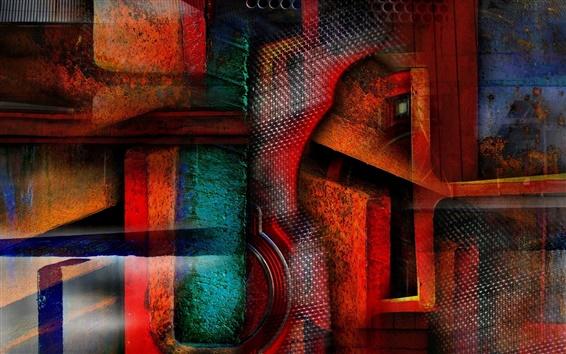 Обои Абстракция цвет формы