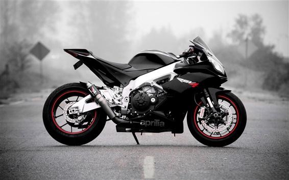 Wallpaper Aprilia motorcycle, black