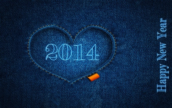 Wallpaper Happy New Year 2014, blue, clothes