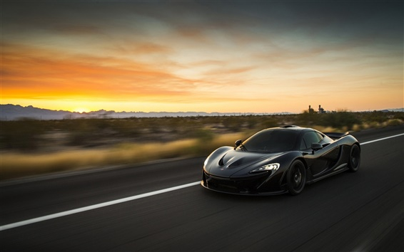 Wallpaper McLaren P1 black supercar