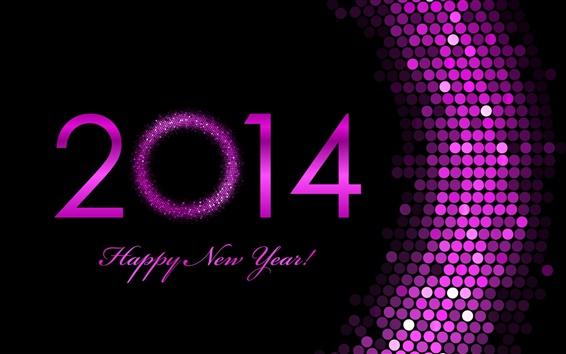 Обои Фиолетовый 2014, с Новым годом