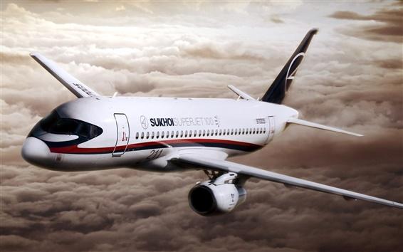 Fond d'écran Sukhoi Superjet 100 avions