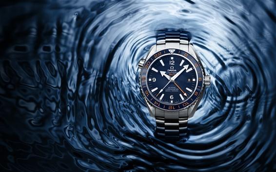 Обои Часы, ОМЕГА, Seamaster 2013, голубая вода