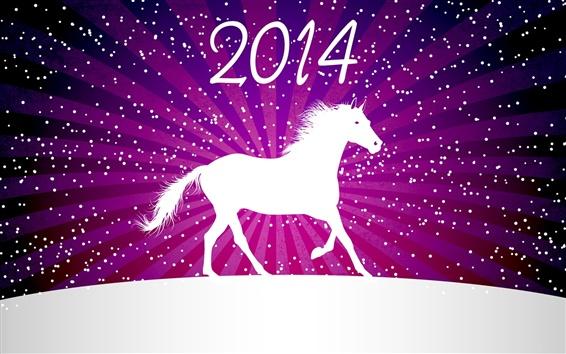 Fond d'écran 2014 Nouvel An, cheval, hiver, vecteur