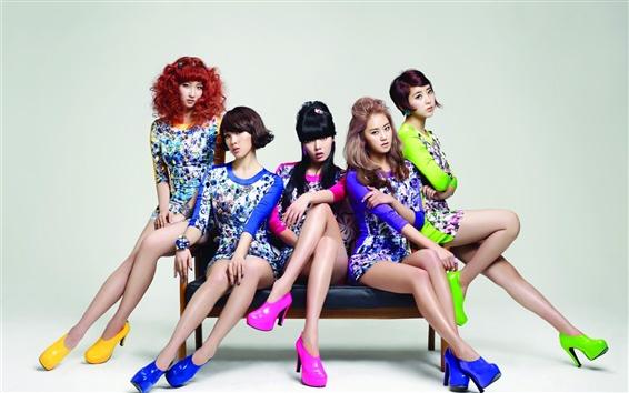 Fond d'écran 4minute Corée filles de musique