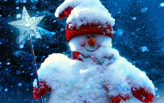 Wallpaper Christmas, new year, snowman, winter