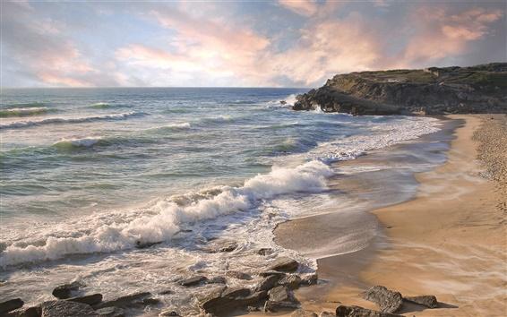 Обои Побережье пейзаж, природа, пляж, море