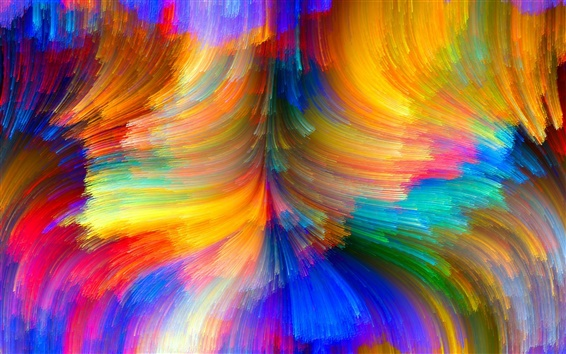 Wallpaper Colorful lines, brightness, curves, abstract