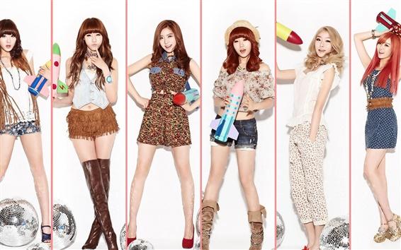 Fond d'écran DalShabet filles de musique de la Corée 01