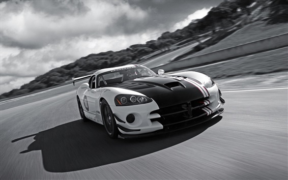 Wallpaper Dodge Viper SRT-10 supercar in speed