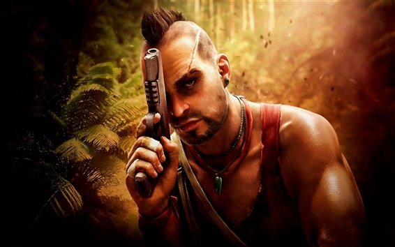 Fond d'écran Far Cry 3, pistolet, jungle