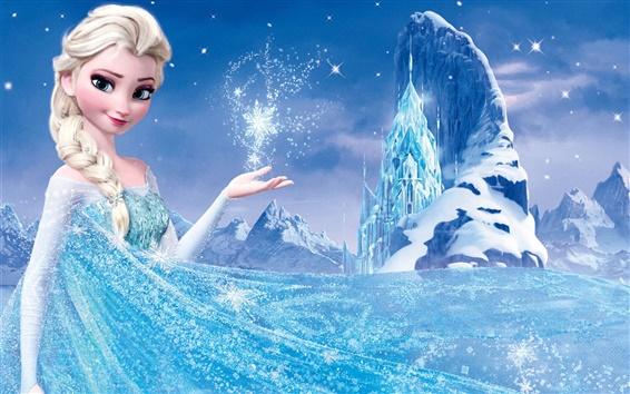 Wallpaper Frozen, Disney 2013 movie, Princess Elsa