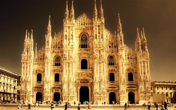 Wallpaper Italy, Milan, Cathedral
