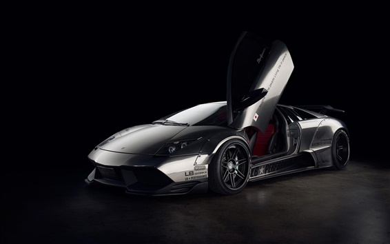 Wallpaper Lamborghini Murcielago supercar, black background