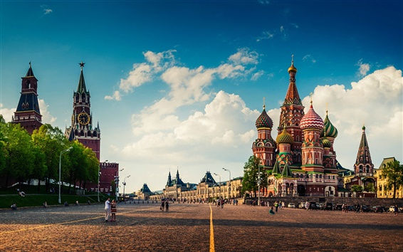 Wallpaper Moscow, Red Square, city landscape