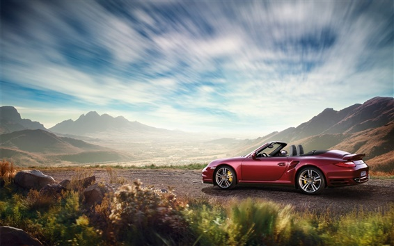 Wallpaper Porsche 911 red supercar