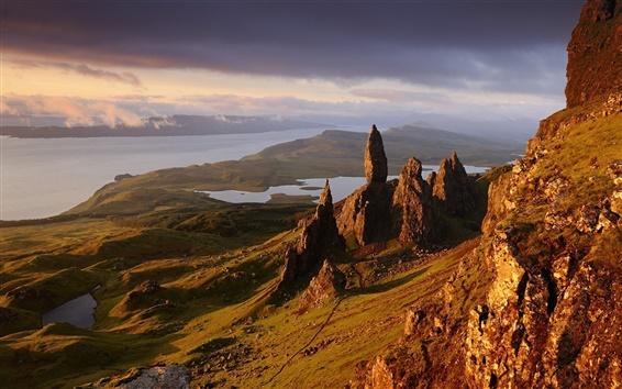 Wallpaper Scotland, mountains, rocks