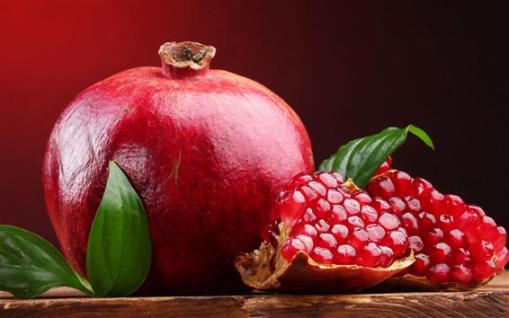 壁紙 甘い赤い果実、ザクロ