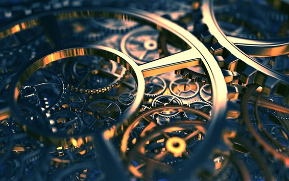 Wallpaper 3D mechanism gear axis