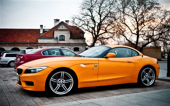 Wallpaper BMW Z4 orange car