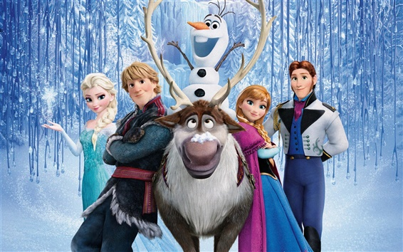 Wallpaper Disney cartoon movie, Frozen