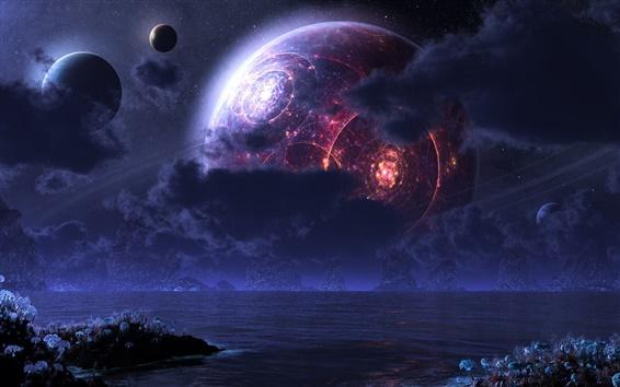 Wallpaper Fantasy planets
