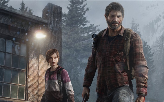 Wallpaper Father and daughter, The Last of US
