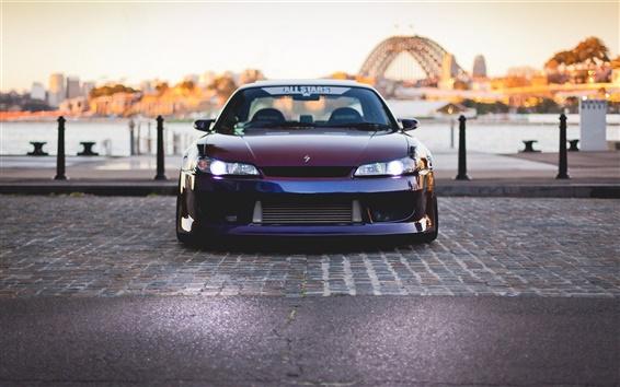 Wallpaper Nissan Silvia Spec-R S15 car front view