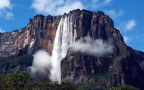 Wallpaper South America, Venezuela, Canaima National Park, waterfall, Angel Falls
