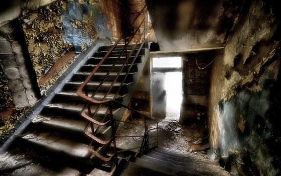 Wallpaper Staircase, interior, ruins