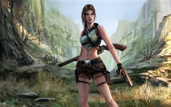 Fondos de pantalla Tomb Raider, Lara Croft, cuadro del arte